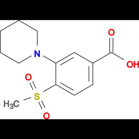 4-Methylsulfonyl-3-(piperidin-1-yl)benzoic acid