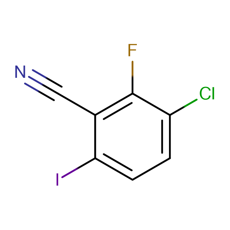3-Chloro-2-fluoro-6-iodobenzonitrile