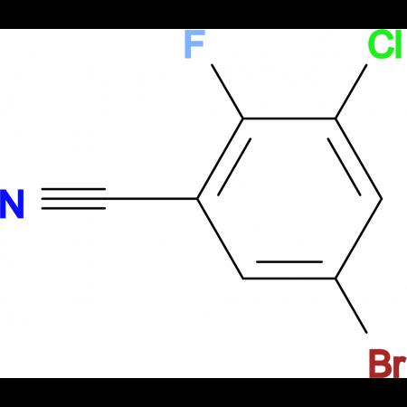 3-Bromo-5-chloro-6-fluorobenzonitrile