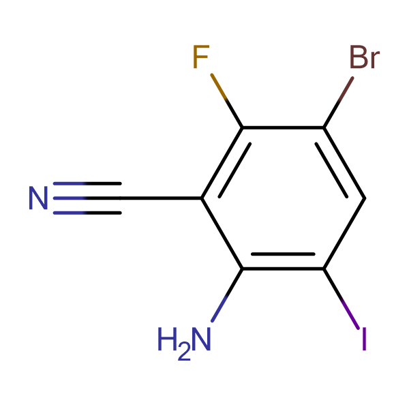 2-Amino-5-bromo-6-fluoro-3-iodobenzonitrile