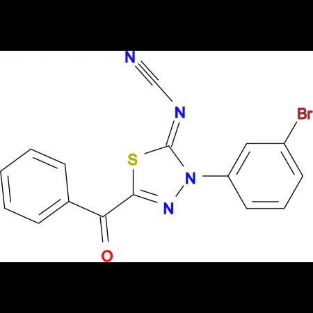 2-Benzoyl-4-(3-bromophenyl)-5-cyanimino-4,5-dihydro-1,3,4-thiadiazole