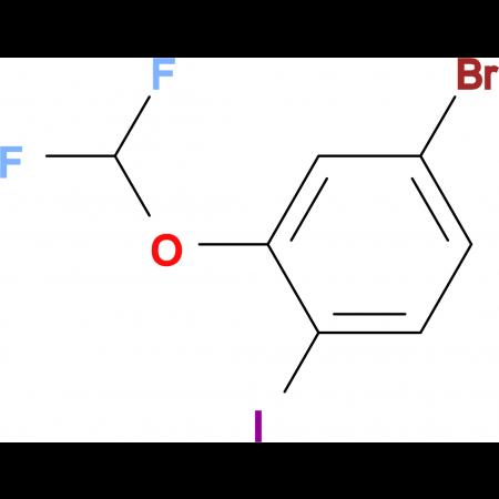 4-Bromo-2-(difluoromethoxy)iodobenzene