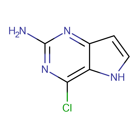 2-Amino-4-chloro-5H-pyrrolo[3,2-d]pyrimidine