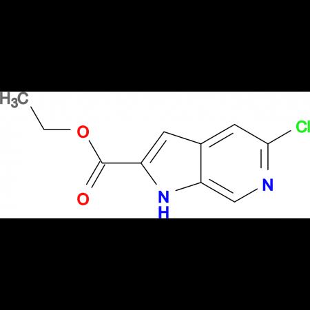 Ethyl 5-Chloro-1H-pyrrolo-[2,3-c]-pyridine-2-carboxylate