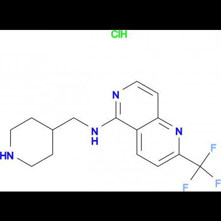 N-(Piperidin-4-ylmethyl)-2-(trifluoromethyl)-1,6-naphthyridin-5-amine hydrochloride hydrate