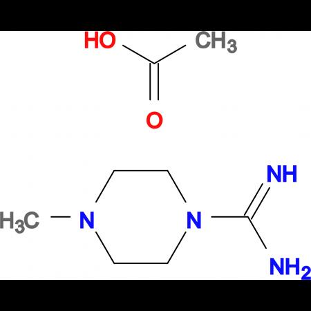 4-Methylpiperazine-1-carboxamidinium acetate