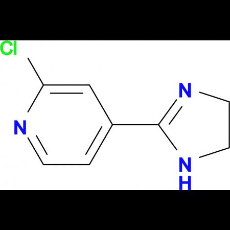 2-Chloro-4-(4,5-dihydro-1H-imidazol-2-yl)pyridine