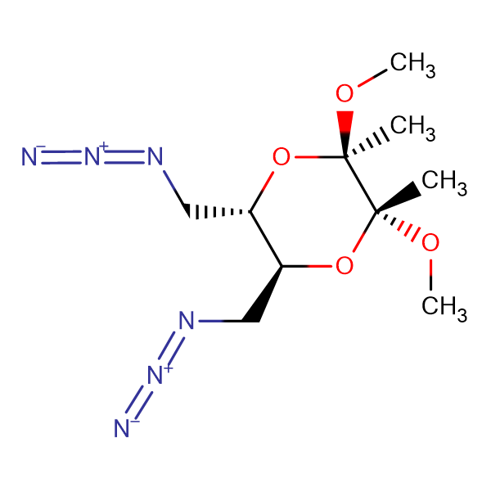 (2R,3R,5S,6S)-5,6-bis(azidomethyl)-2,3-dimethoxy-2,3-dimethyl 1,4 dioxane