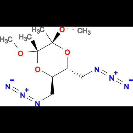 (2S,3S,5R,6R)-5,6-bis(azidomethyl)-2,3-dimethoxy-2,3-dimethyl 1,4-dioxane