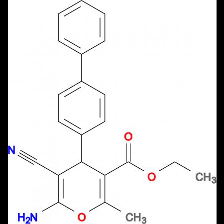 6-Amino-4-biphenyl-4-yl-5-cyano-2-methyl-4H-pyran-3-carboxylic acid ethyl ester