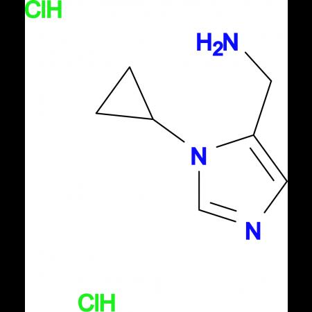 1-(1-Cyclopropyl-1H-imidazol-5-yl)methanamine dihydrochloride