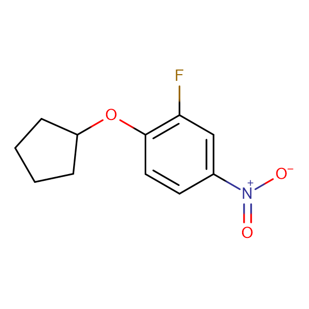 1-(Cyclopentyloxy)-2-fluoro-4-nitrobenzene