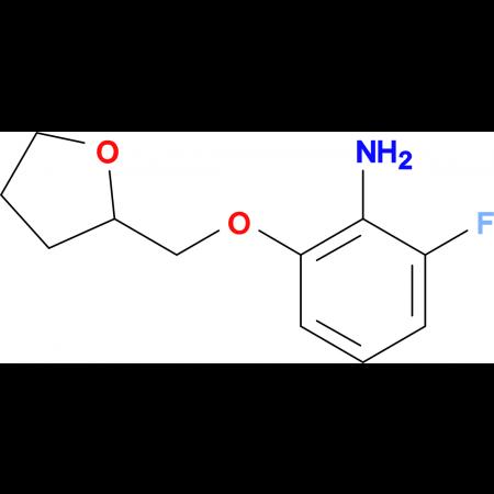 2-Fluoro-6-[(tetrahydrofuran-2-yl)methoxy]aniline