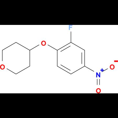4-(2-Fluoro-4-nitrophenoxy)tetrahydro-2H-pyran
