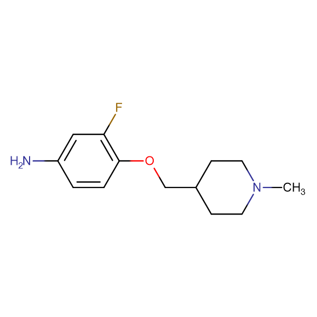 3-Fluoro-4-[(1-methylpiperidin-4-yl)methoxy]aniline