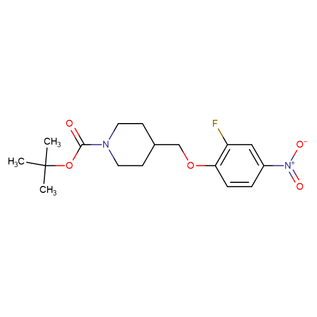 tert-Butyl 4-[(2-fluoro-4-nitrophenoxy)methyl]piperidine-1-carboxylate