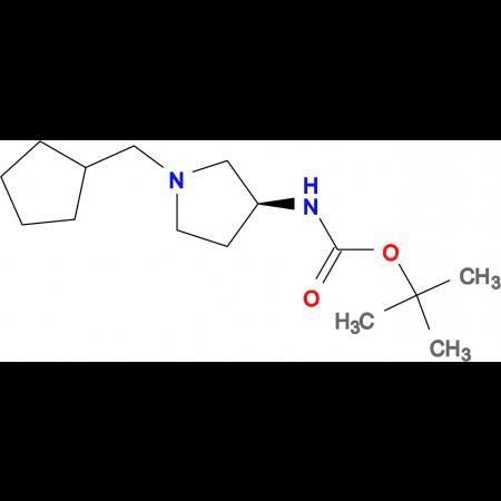 (S)-tert-Butyl 1-(cyclopentylmethyl)pyrrolidin-3-ylcarbamate