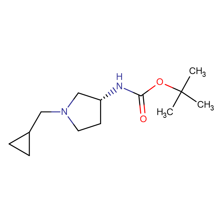 (R)-tert-Butyl 1-(cyclopropylmethyl)pyrrolidin-3-ylcarbamate
