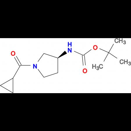 (S)-tert-Butyl 1-(cyclopropanecarbonyl)pyrrolidin-3-ylcarbamate