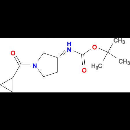 (R)-tert-Butyl 1-(cyclopropanecarbonyl)pyrrolidin-3-ylcarbamate