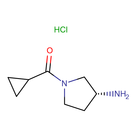 (R)-(3-Aminopyrrolidin-1-yl)(cyclopropyl)methanone hydrochloride