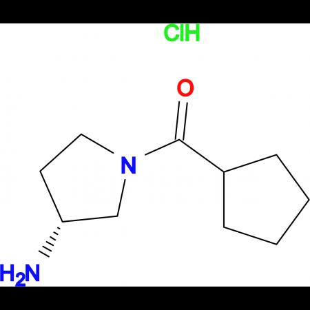 (R)-(3-Aminopyrrolidin-1-yl)(cyclopentyl)methanone hydrochloride