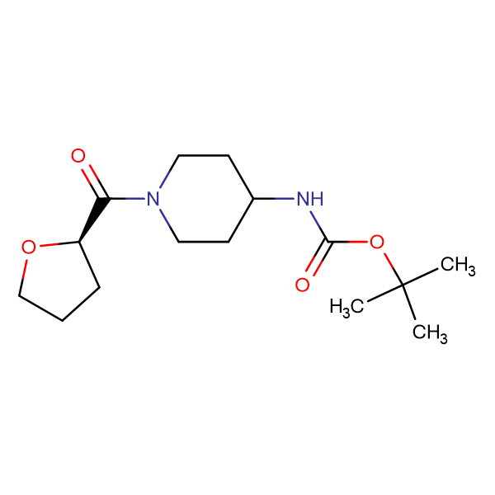 (R)-tert-Butyl 1-(tetrahydrofuran-2-carbonyl)piperidin-4-ylcarbamate