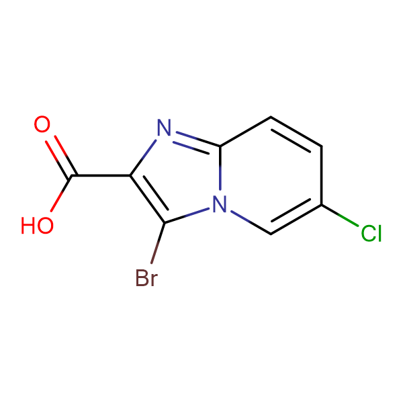 3-Bromo-6-chloroimidazo[1,2-a]pyridine-2-carboxylic acid
