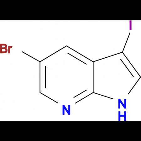 5-Bromo-3-iodo-1H-pyrrolo[2,3-b]pyridine