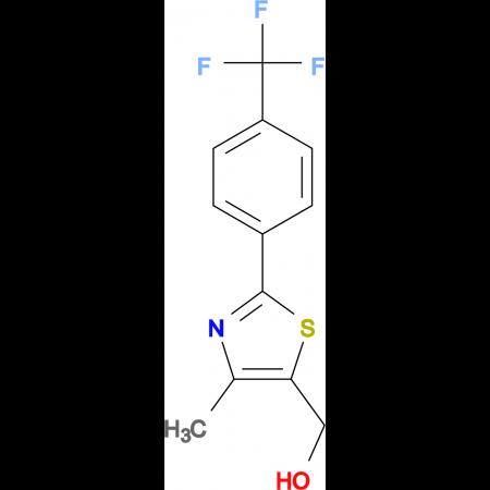 {4-Methyl-2-[4-(trifluoromethyl)phenyl]-1,3-thiazol-5-yl}methanol
