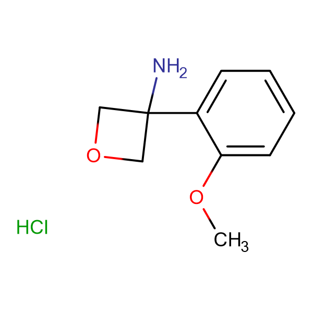 3-(2-Methoxyphenyl)oxetan-3-amine hydrochloride