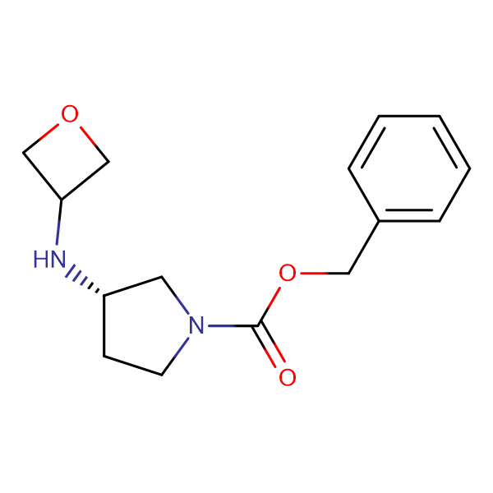 Benzyl (3S)-3-(oxetan-3-yl)amino)pyrrolidine-1-carboxylate