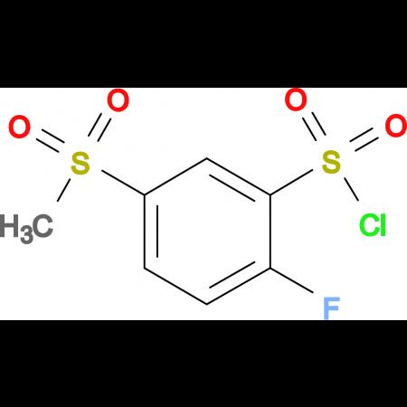 2-Fluoro-5-methanesulfonyl-benzenesulfonyl chloride