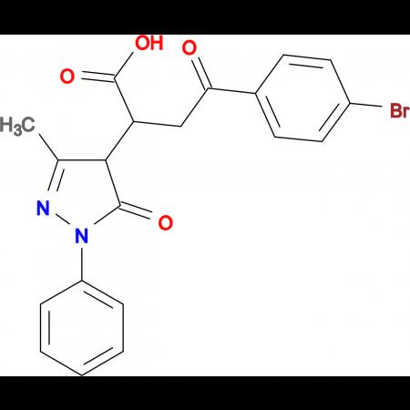 4-(4-Bromophenyl)-2-(3-methyl-5-oxo-1-phenyl-4,5-dihydro-1H-pyrazol-4-yl)-4-oxobutyric acid