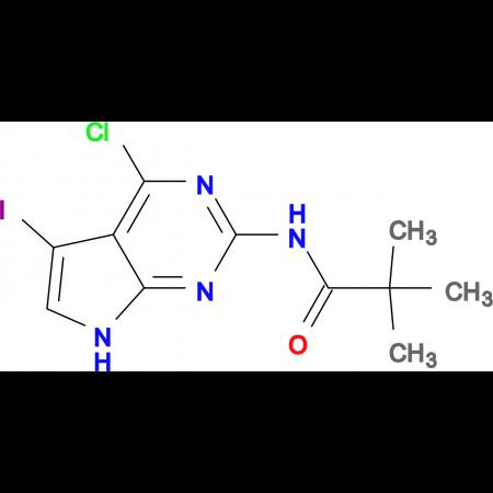 N-(4-Chloro-5-iodo-7H-pyrrolo[2,3-d]pyrimidin-2-yl)-2,2-dimethylpropionamide