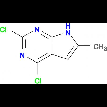 2,4-Dichloro-6-methyl-7H-pyrrolo[2,3-d]pyrimidine