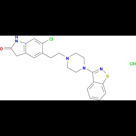 5-(2-(4-(Benzo[d]isothiazol-3-yl)piperazin-1-yl)ethyl)-6-chloroindolin-2-one hydrochloride
