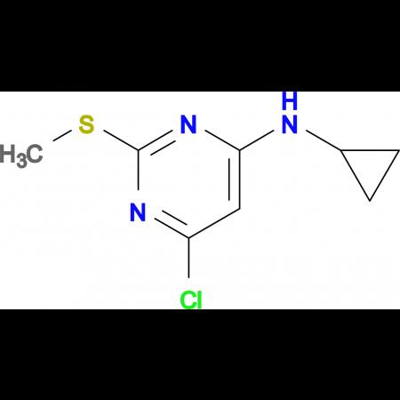 (6-Chloro-2-methylsulfanyl-pyrimidin-4-yl)-cyclopropyl-amine