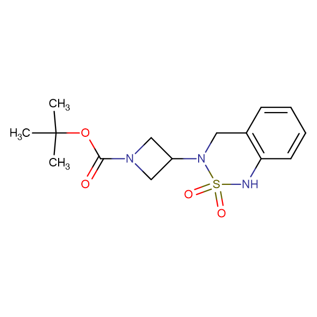 tert-Butyl 3-(2,2-dioxo-3,4-dihydro-1H-2lambda(6),1,3-benzothiadiazin-3-yl)azetidine-1-carboxylate