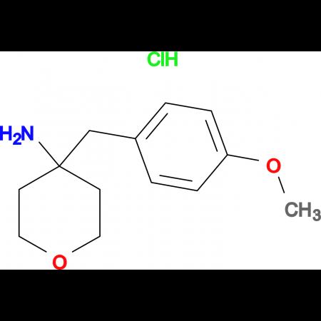 4-[(4-Methoxyphenyl)methyl]oxan-4-aminehydrochloride