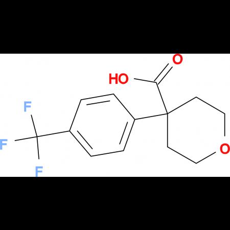 4-[4-(Trifluoromethyl)phenyl]oxane-4-carboxylic acid