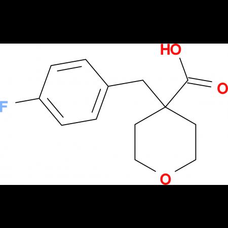 4-[(4-Fluorophenyl)methyl]oxane-4-carboxylic acid