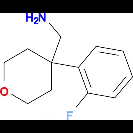 [4-(2-Fluorophenyl)oxan-4-yl]methanamine