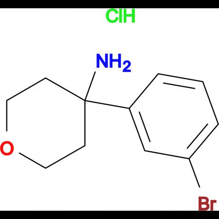 4-(3-Bromophenyl)oxan-4-amine hydrochloride