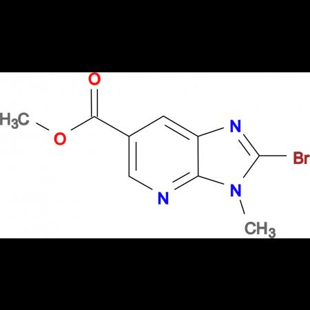 Methyl 2-bromo-3-methyl-3H-imidazo[4,5-b]pyridine-6-carboxylate