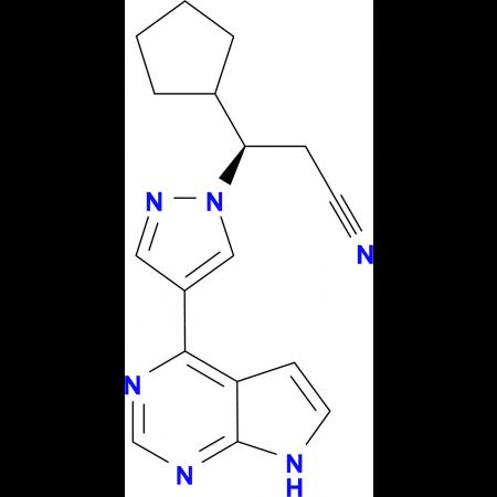 3-Cyclopentyl-4-(7H-pyrrolo[2,3-d]pyrimidin-4-yl)-(beta-R)-1H-pyrazole-1-propanenitrile