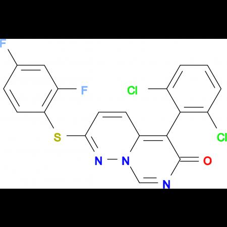 5-(2,6-Dichlorophenyl)-2-((2,4-difluorophenyl)thio)-6H-pyrimido[1,6-b]pyridazin-6-one