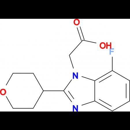 2-[7-Fluoro-2-(oxan-4-yl)-1H-1,3-benzodiazol-1-yl]acetic acid