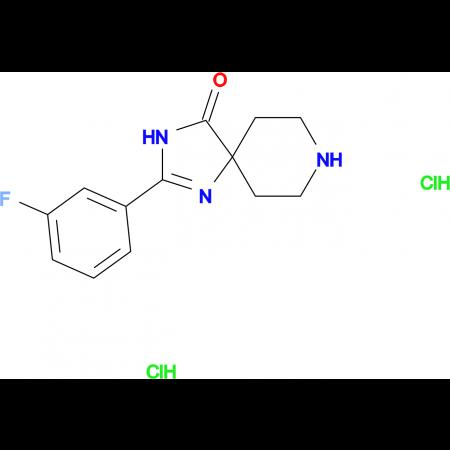2-(3-Fluorophenyl)-1,3,8-triazaspiro[4.5]dec-1-en-4-one dihydrochloride