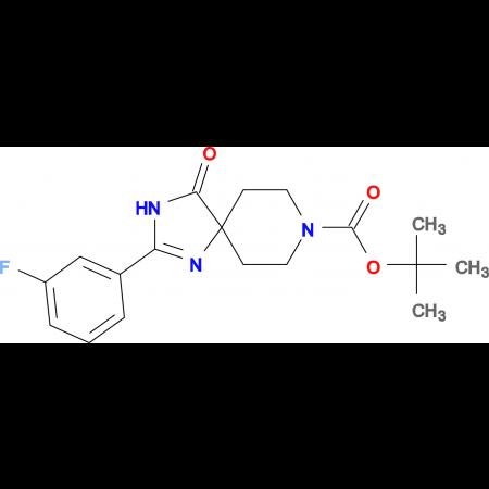 tert-Butyl2-(3-fluorophenyl)-4-oxo-1,3,8-triazaspiro[4.5]dec-1-ene-8-carboxylate